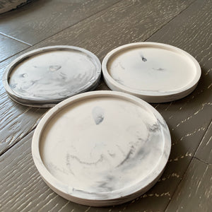 Coasters - Black/White/Grey Marble - Set of 2