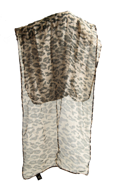 Hat Scarf in Leopard Print