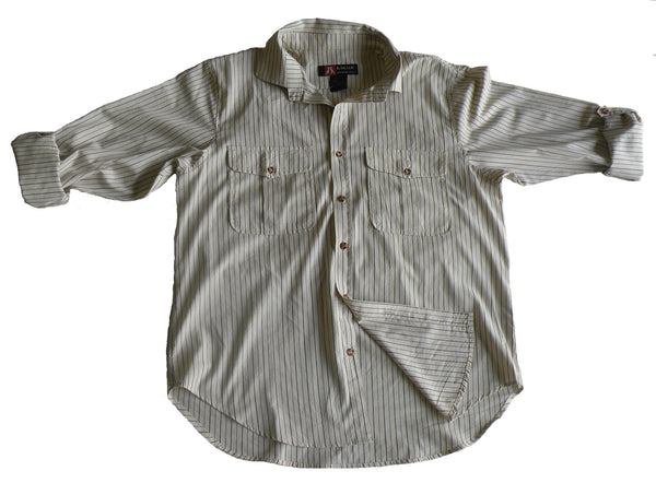 Bargo Shirt In Navy/Tan