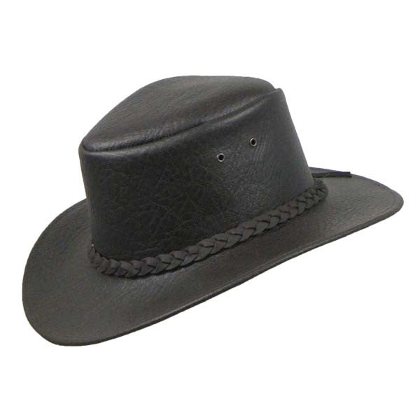 Colonial Hat in Brown Leather