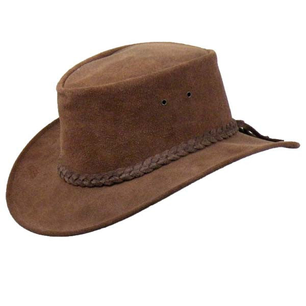 Colonial Hat in Mahogany Suede