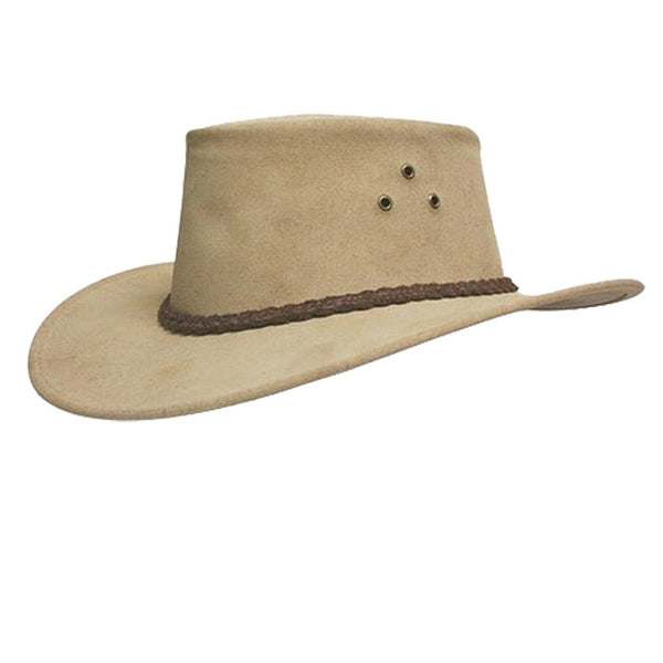 Echuca Suede Hat in Tan