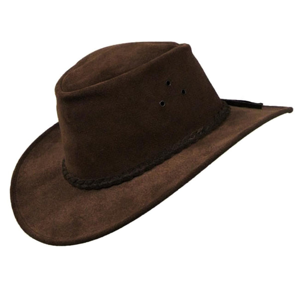 Kakadu ECHUCA HAT in Brown Suede Leather