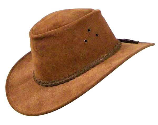 Echuca Suede Hat in Rust