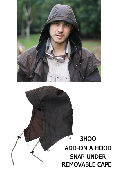 Long Rider 3-In-1 Drovers Coat in Brown