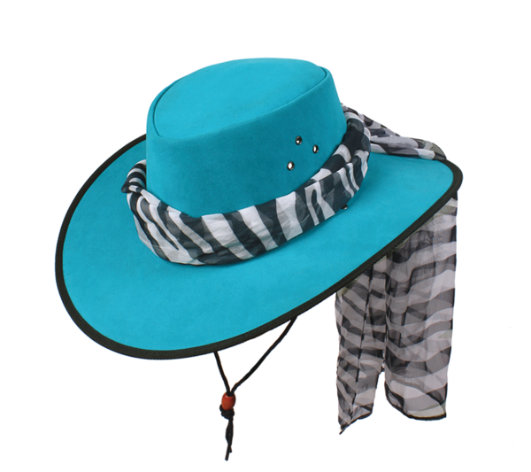 Contrast Soaka Hat in Aqua