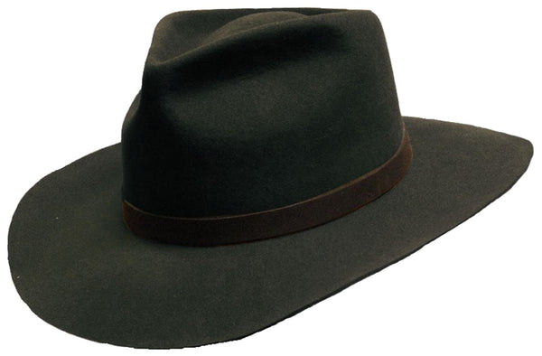 Justin Wool Felt Hat In Black