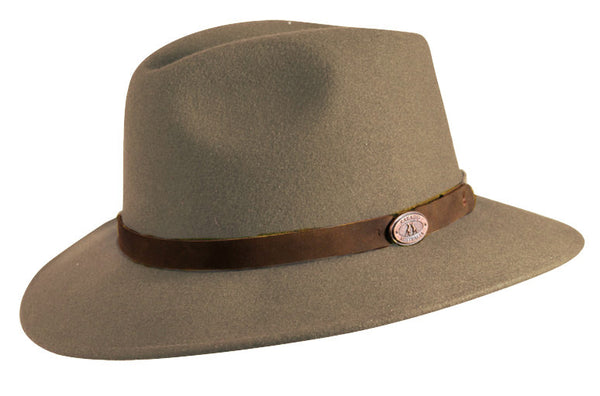 Clancy Wool Felt Hat In Taupe