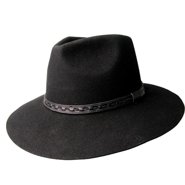 Kakadu TAREE HAT in Black Wool Felt