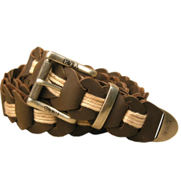 Lincoln Hand Braided Belt In Tobacco