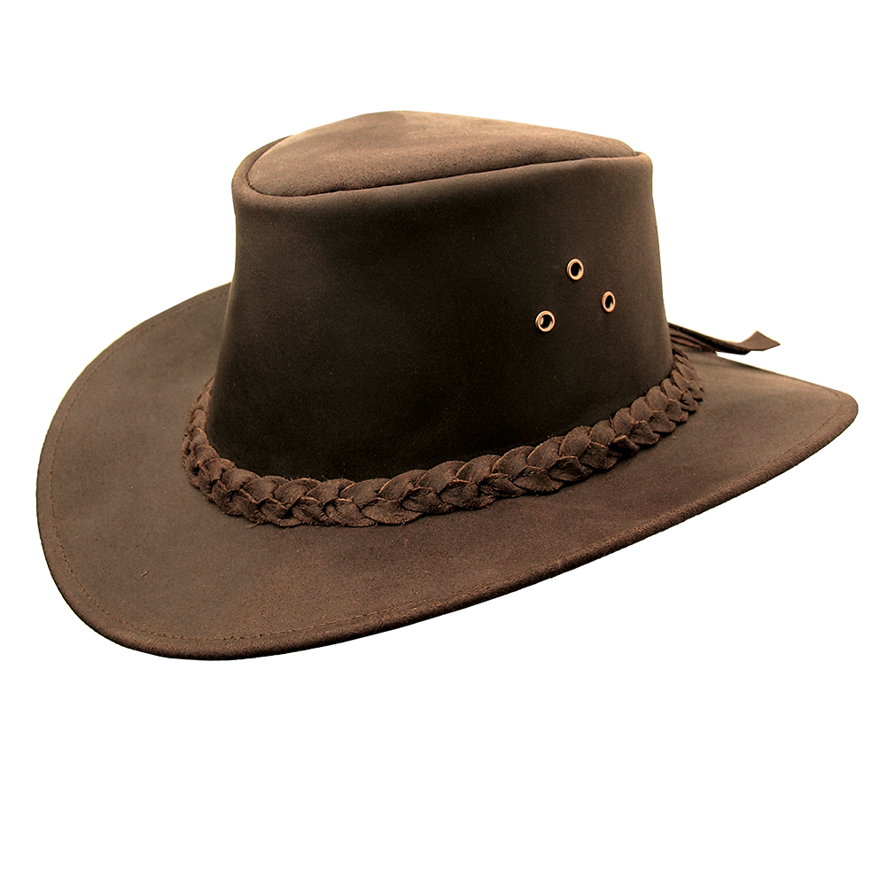 96be195ade7 Iron Cove Leather Hat In Brown - Kakadu Traders Australia