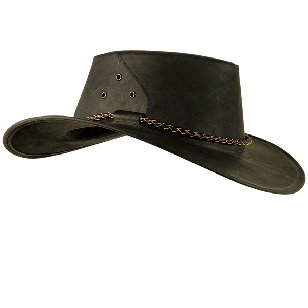 7886d3a9df7fe Kakadu THE ROO Kangaroo Leather Hat in Charcoal
