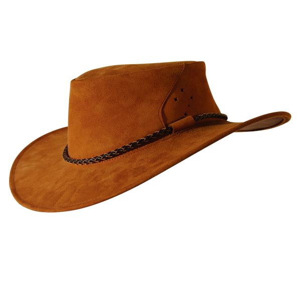4685d786739 Southern Cross Kangaroo Suede Leather Hat In Rust