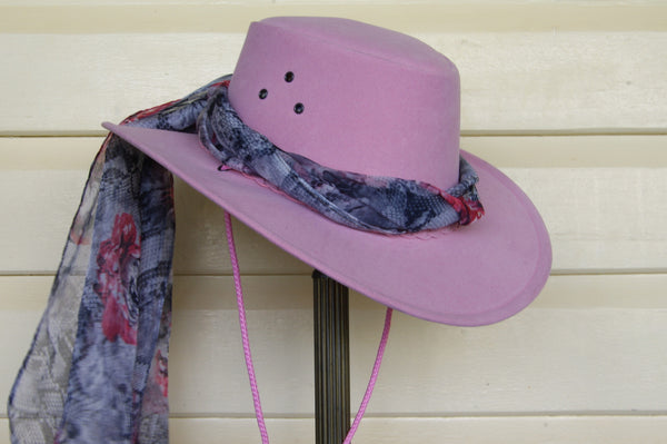 Hat Scarf in Lizard Print
