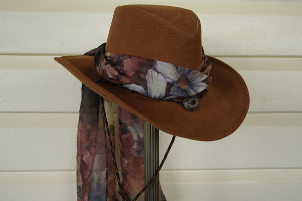 Hat Scarf in Autumn Flower Print
