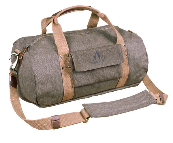Limited Edition Small Burro Duffle Bag in Ghost Gum Brown