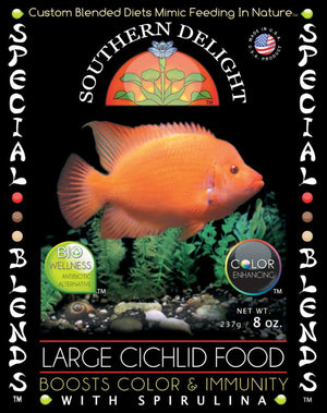 Large Cichlid Food 1.125 Lb Big Bottle