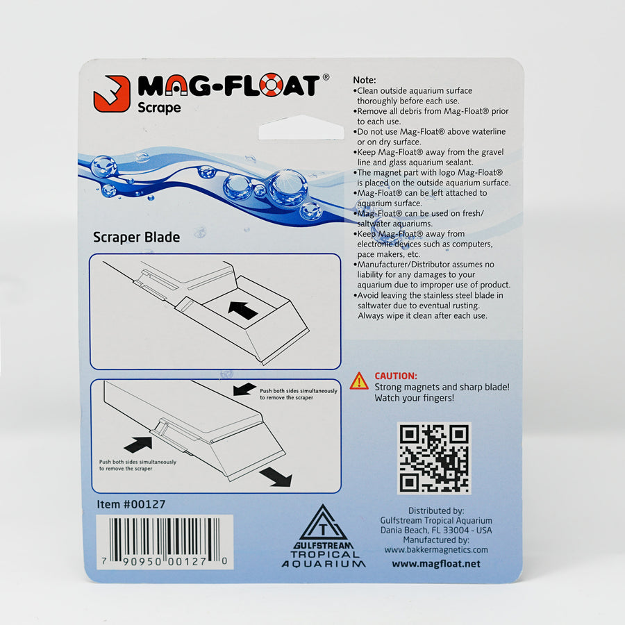 Mag-Float Scraper blades for the (Small) & (Medium) glass aquarium cleaners