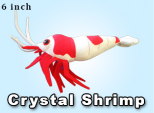 GreenPleco Crystal Red Shrimp Plushie