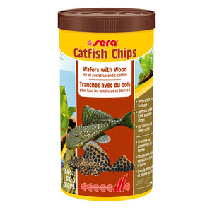 Sera Catfish Chips Wafers with Wood - 1000ml, offered by Aquatic Support Systems