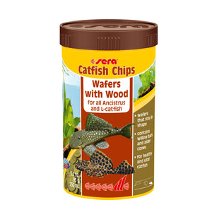 Sera Catfish Chips Wafers with Wood - 100ml offered by Aquatic Support Systems