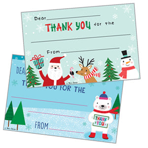 Holiday Kids Thank You Postcards
