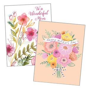 Mother's Day Cards - Single card & Envelope