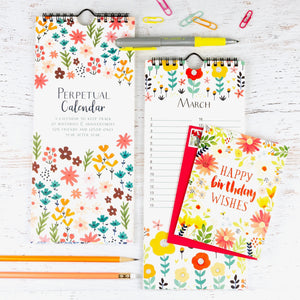 perpetual birthday calendar-USA made-gina b designs