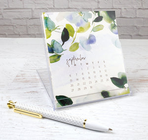 gina b designs 2019 desk gift calendar watercolor art by Stephanie Ryan