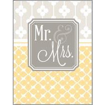 Gift Enclosures - Yellow Mr. and Mrs., Gina B Designs