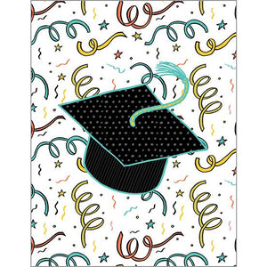 Graduation Card - Hats & Confetti