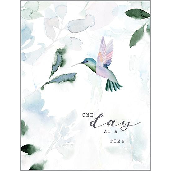 Thinking of You Card - Leaves/Hummingbird