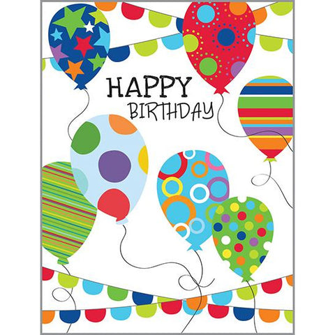 Birthday Card - Balloons & Banners