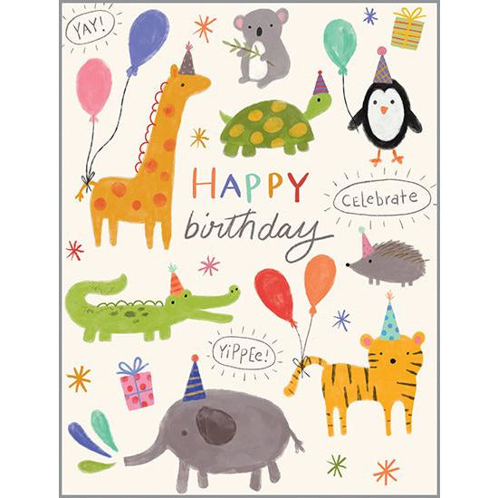 Birthday Card - Little Birthday Animals, Gina B Designs