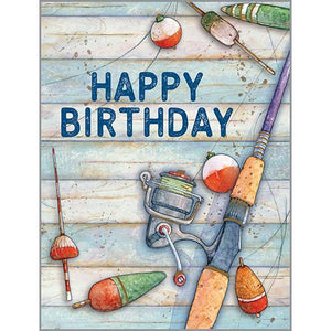 Birthday card - Fishing Pole, Gina B Designs