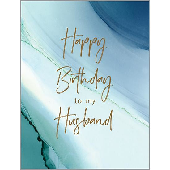 Birthday card - Husband Blue Marble, Gina B Designs