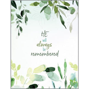 Sympathy Card - Remembering Him, Gina B Designs