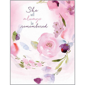 Sympathy card - Remembering Her, Gina B Designs