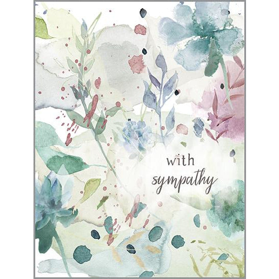 Sympathy Card - Watercolor Sympathy, Gina B Designs