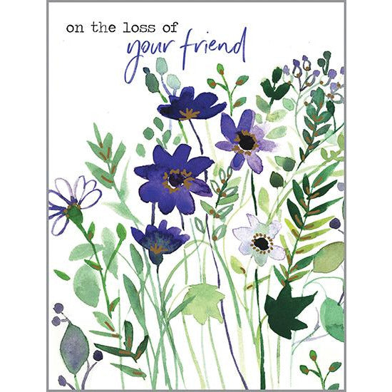 Sympathy card - Loss of Your Friend, Gina B Designs