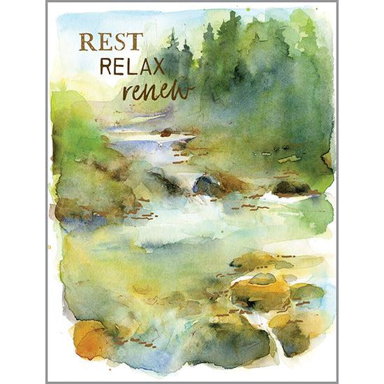 Thinking of you - Stream with Rocks, Gina B Designs