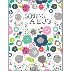 Thinking of You card - Geo Blooms, Gina B Designs