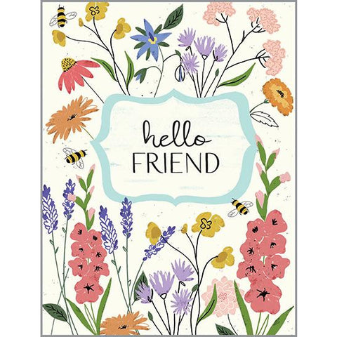Thinking of You Card - Wildflowers Garden, Gina B Designs