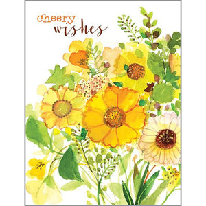 Get Well card -  Yellow Bouquet, Gina B Designs