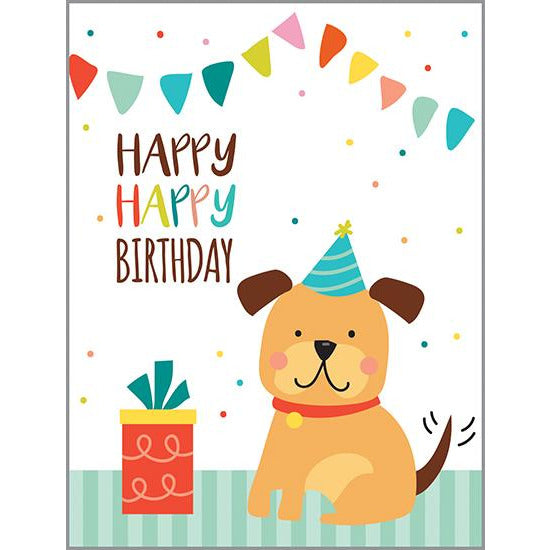 Birthday card - Party Puppy, Gina B Designs