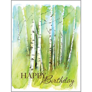 Birthday card - Birch Grove, Gina B Designs