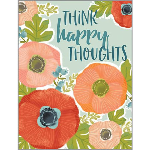 Thinking of You Card - Red/Orange Poppies