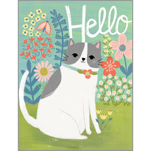 Thinking of You card - Hello Cat