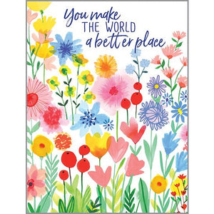 Thinking of You card - Bright Color Garden