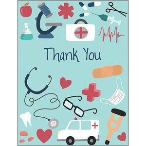 Thank You Card - Medical Icons